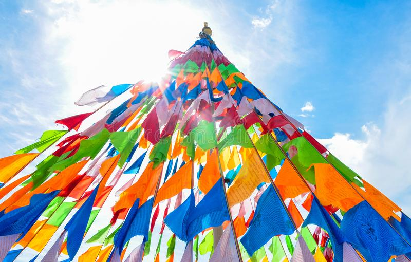 Prayer flags. In china Tibet royalty free stock photos