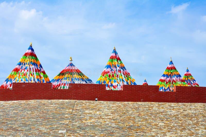 Prayer flags. In china Tibet stock photo