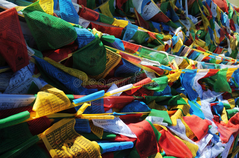 Download Prayer flags in Tibet stock photo. Image of blue, background - 16346234