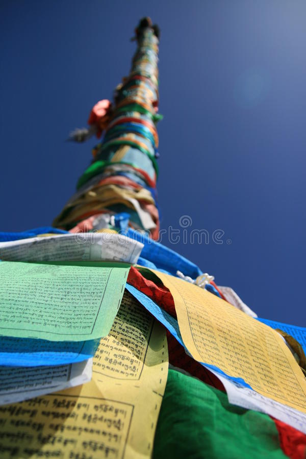 Download Prayer flags tower stock image. Image of blue, tibet - 29591493