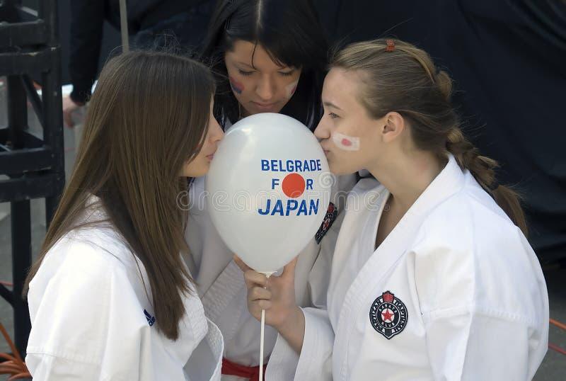 Prayer for Japan stock photography