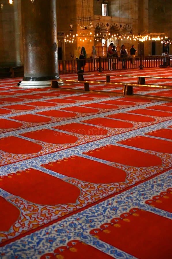Prayer rug carpet stock images