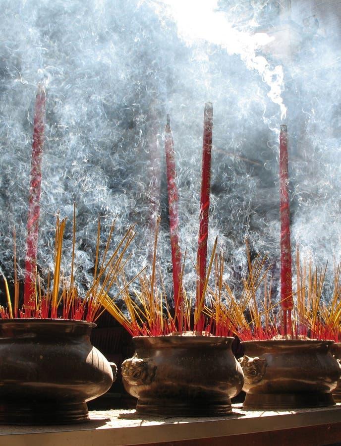 Prayer sticks, Ho Chi Minh, Vietnam stock photo