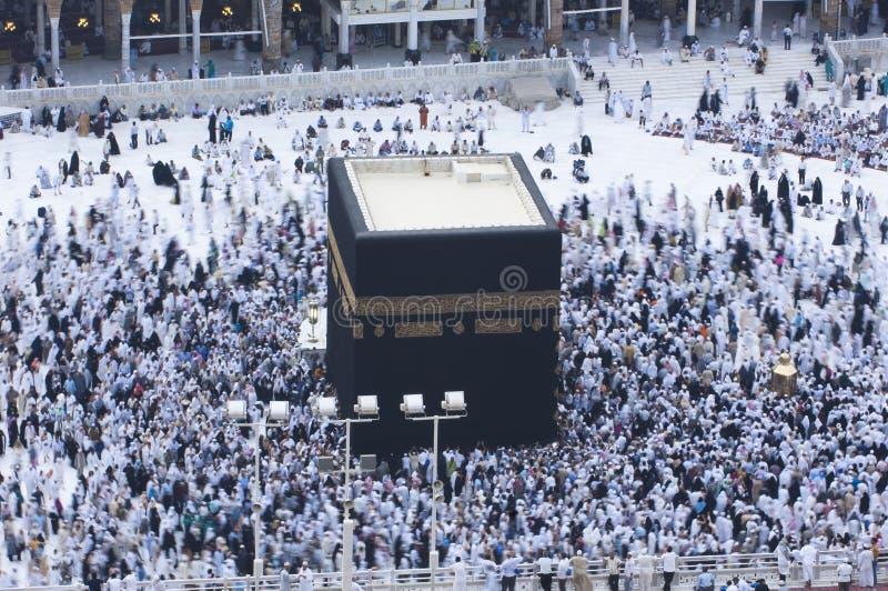 Prayer and Tawaf - circumambulation - Around AlKaaba in Mecca, A royalty free stock image
