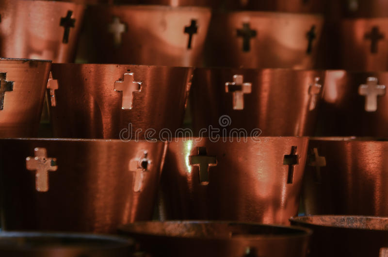 Prayer Votive Candles royalty free stock photo