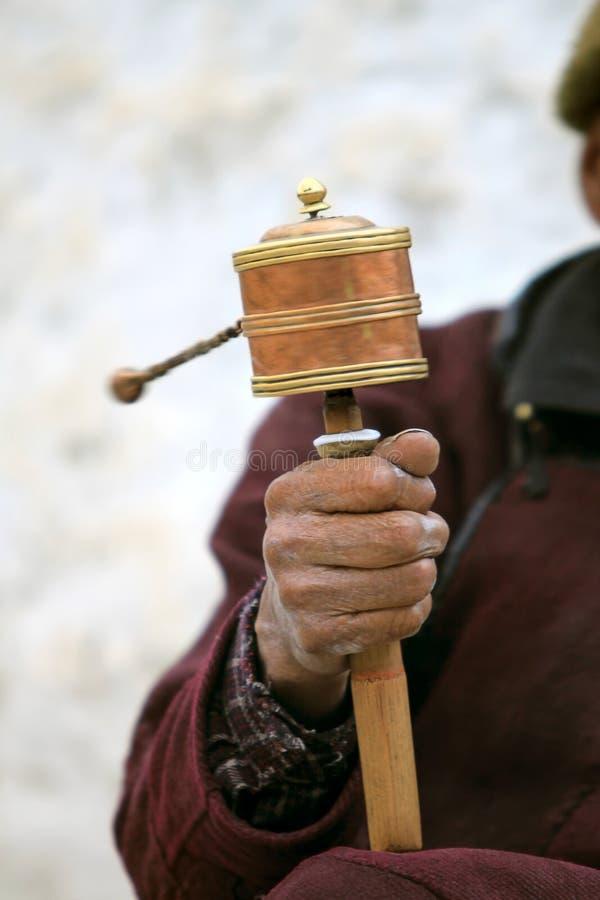 Free Prayer Wheel In Man S Hand Stock Photos - 21393553