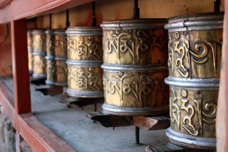 Prayer wheel Tibet stock photography
