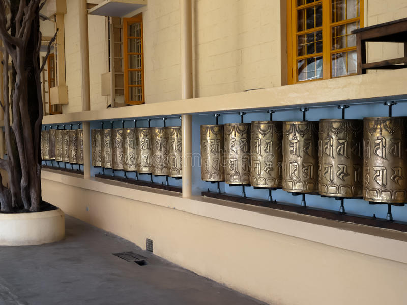 Download Prayer wheels stock image. Image of outside, religious - 24063631