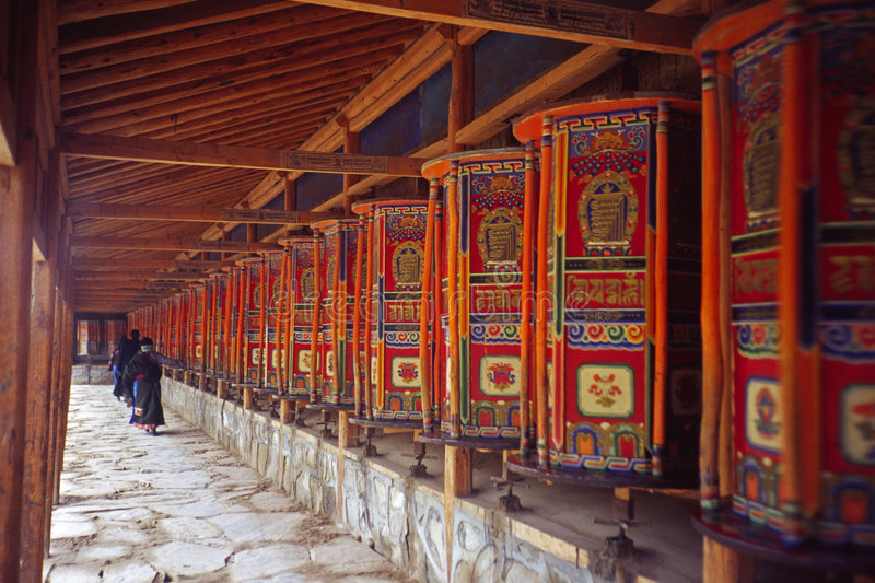 Download Prayer wheels stock photo. Image of monastery, turning - 5317130