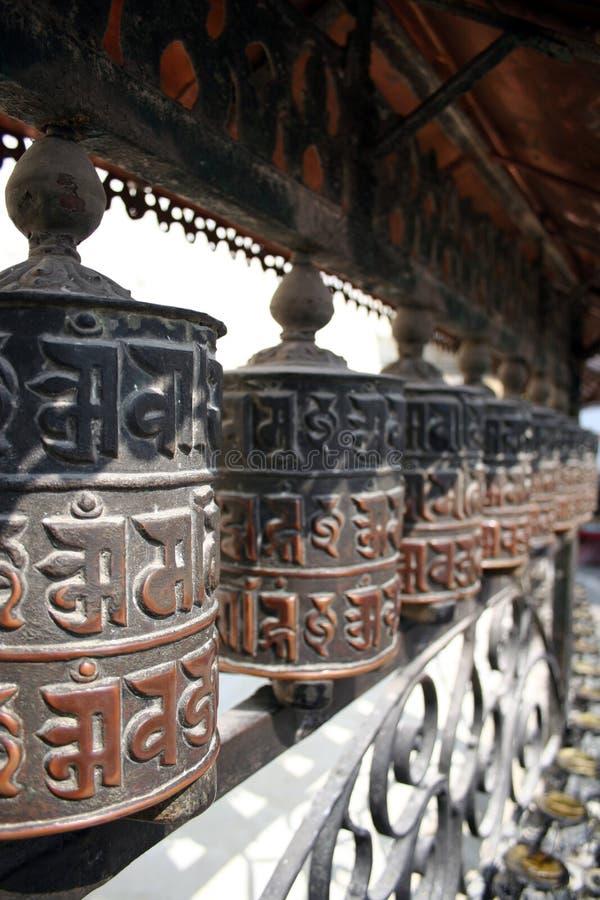 Prayer Wheels - Nepal stock photography