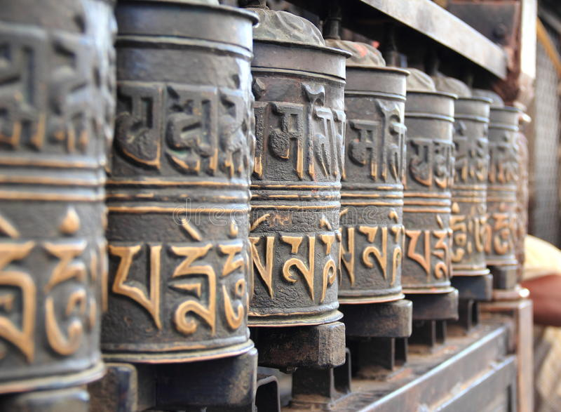 Prayer Wheels In Nepal. Royalty Free Stock Photos