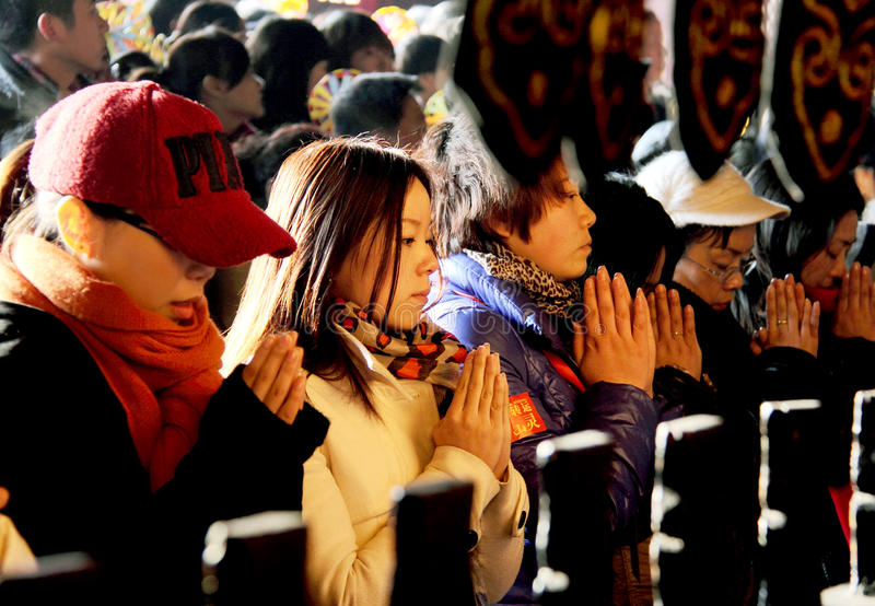 Download Prayers in Chinese temple editorial stock photo. Image of thanksgiving - 23124443