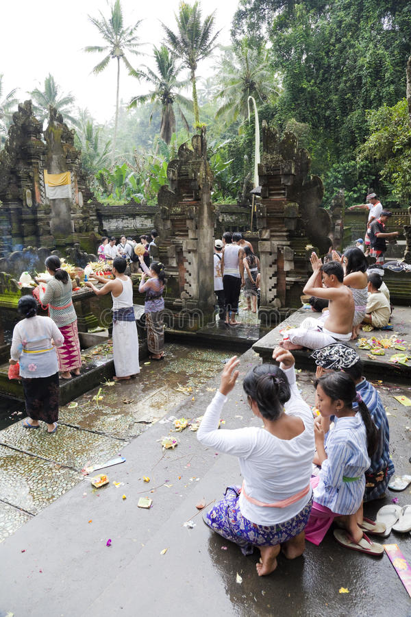Prayers at Tirtha Empul, Bali, Indonesia