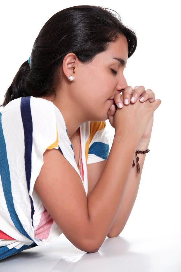 Praying imagem de stock royalty free