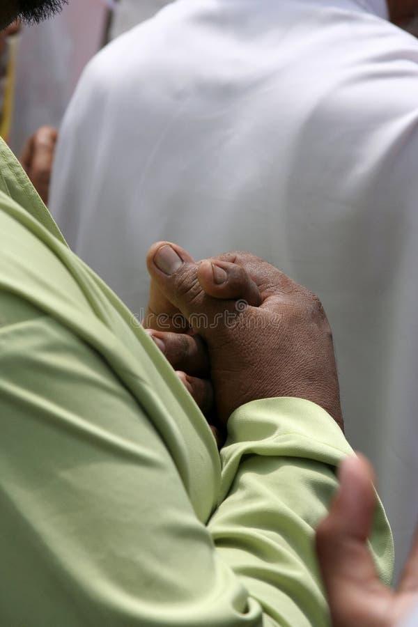Praying. Muslim praying royalty free stock photos