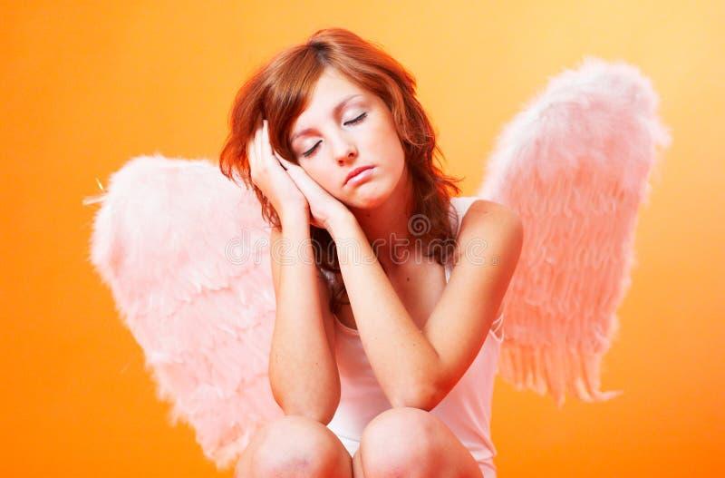 Praying Angel royalty free stock image