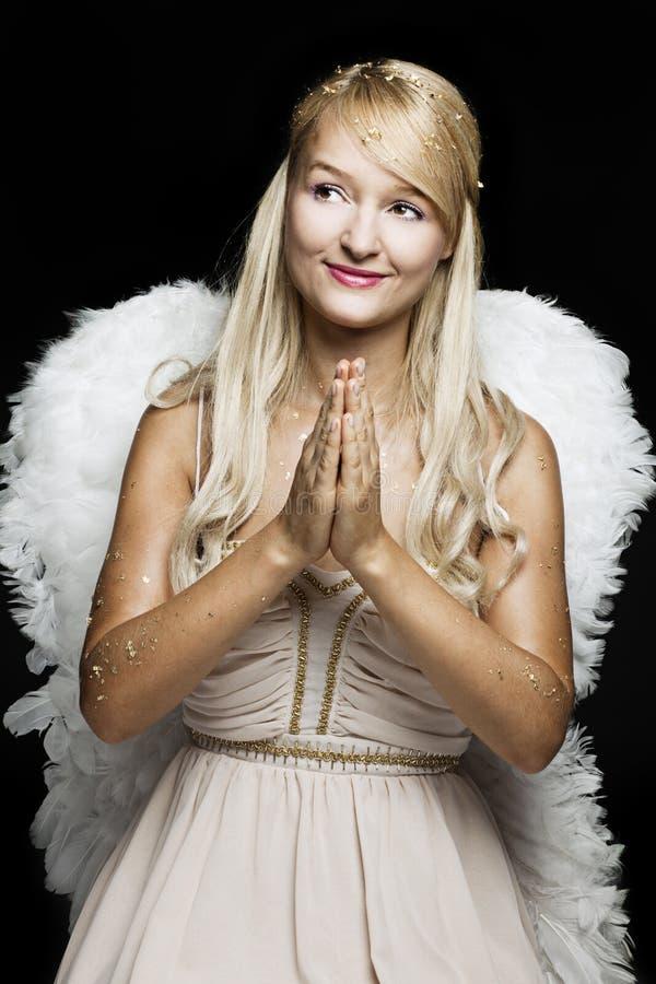 Praying angel stock images