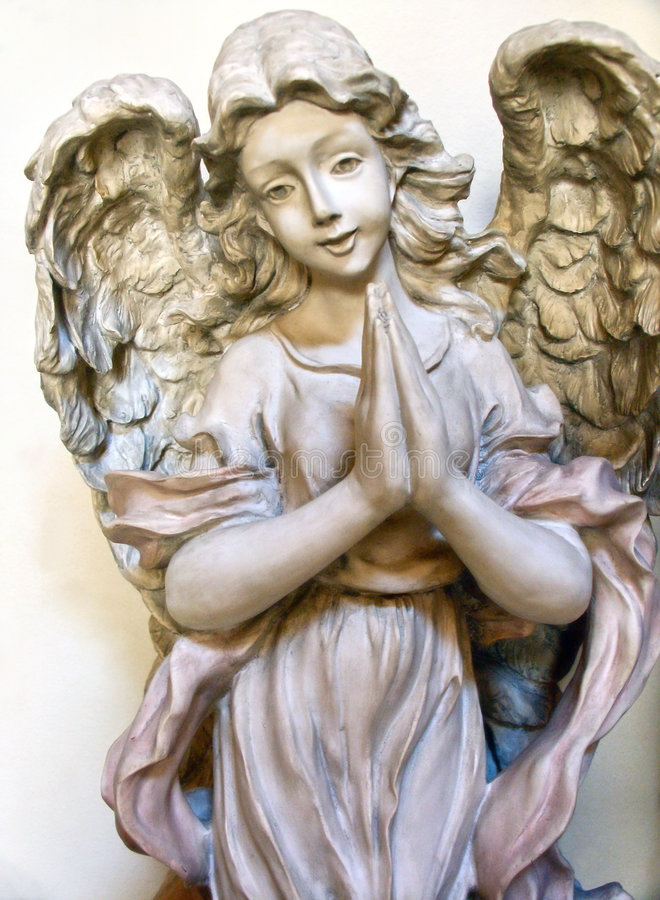 Download Praying Angel stock image. Image of figure, holy, winged - 3820587