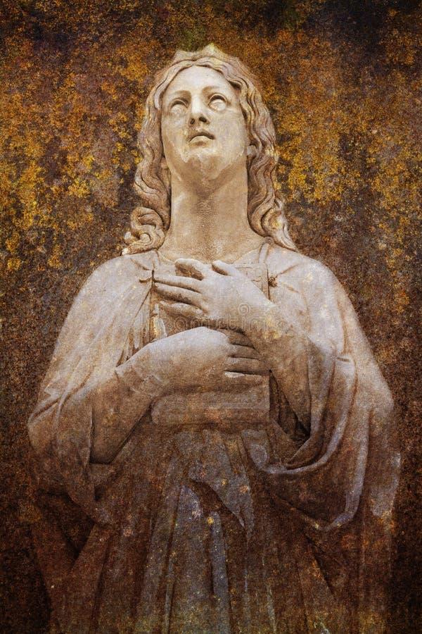 Praying da mulher ilustração do vetor