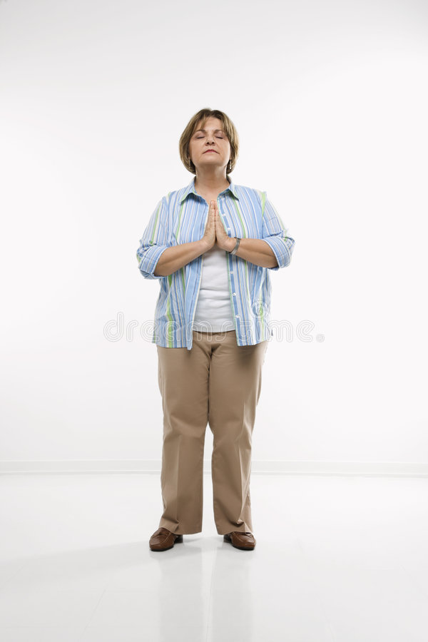 Praying da mulher. fotografia de stock royalty free