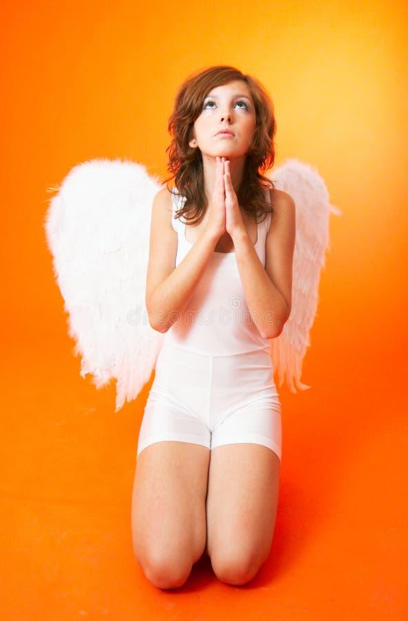 Praying do anjo fotografia de stock