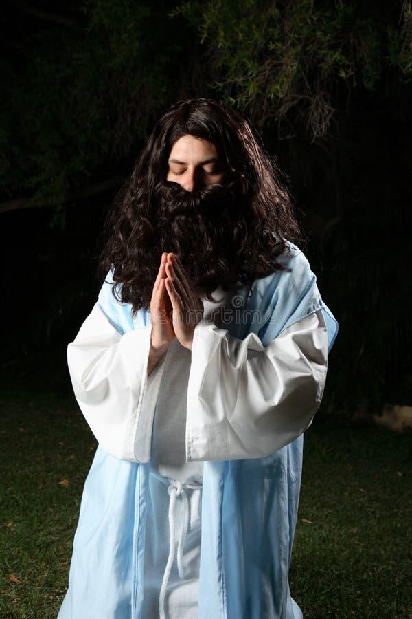Praying do profeta foto de stock