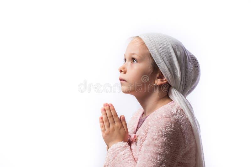 Praying fêmea novo bonito foto de stock