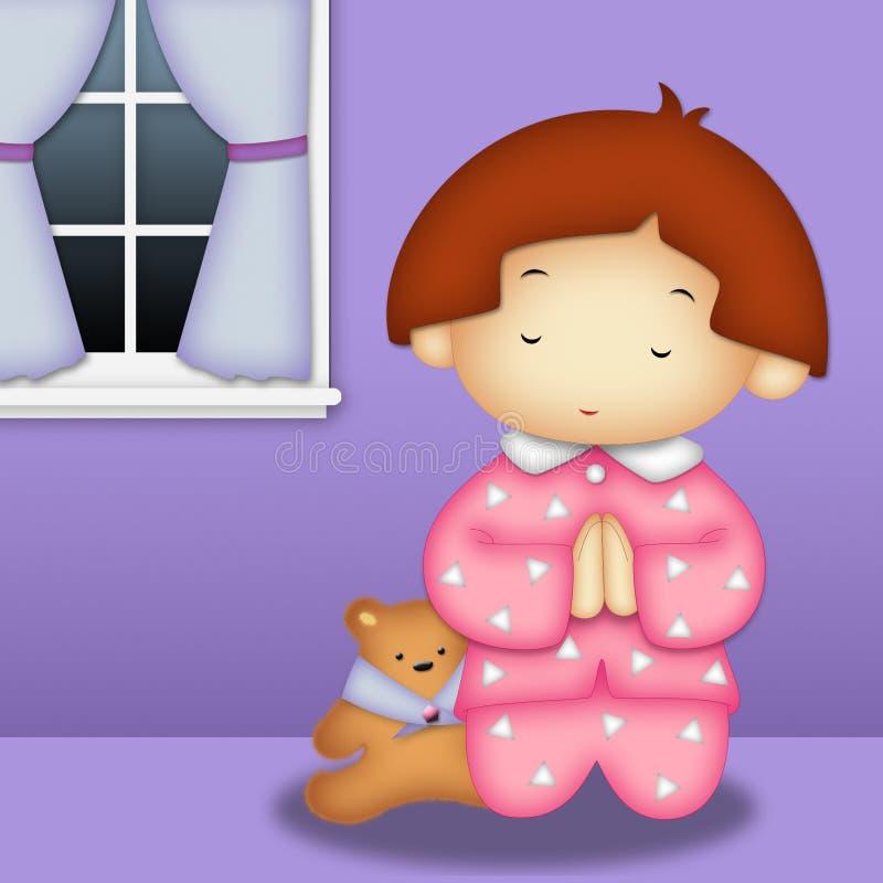 Download Praying Girl stock illustration. Image of christian, meditation - 15629401