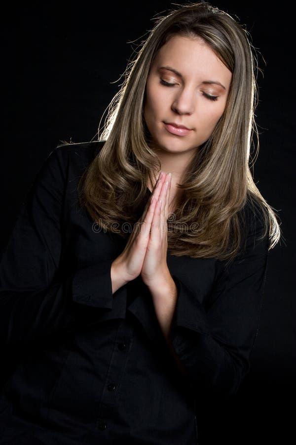 Praying Girl royalty free stock photography