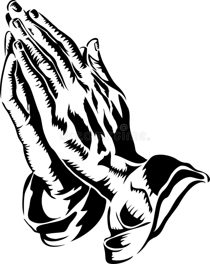 Praying Hands/eps. Black and white illustration of praying hands similar to the famous engraving of 15th century artist, Albrecht Dürer
