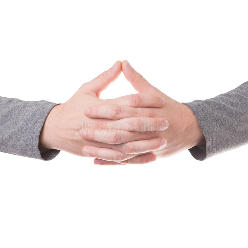 Praying hands gesture isolated royalty free stock image