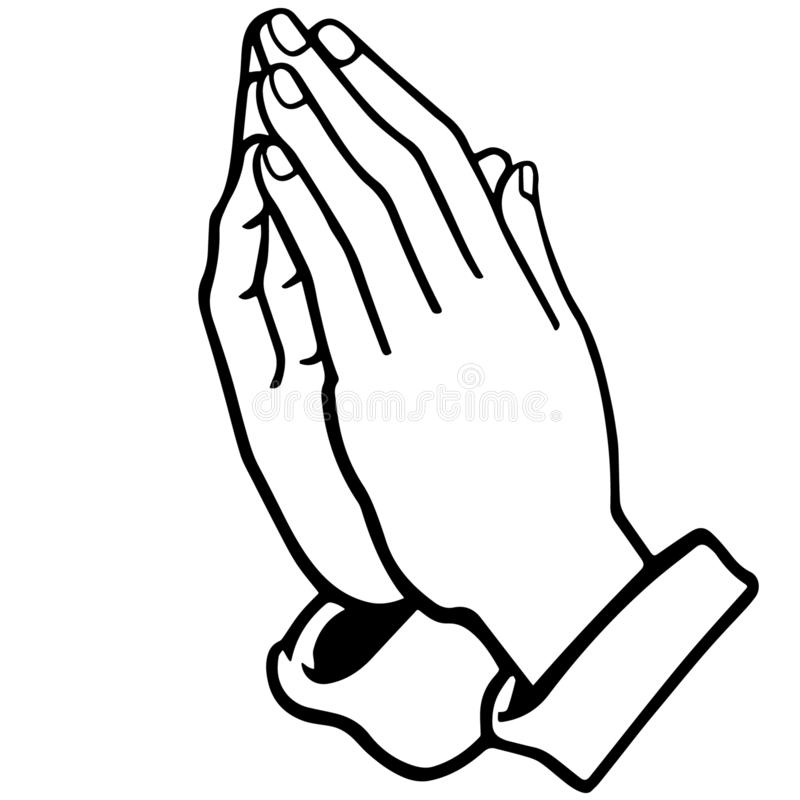 Praying hands vector illustration by crafteroks vector illustration