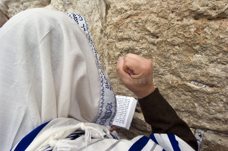 Download Praying hassid stock photo. Image of kotel, belief, intension - 3002884