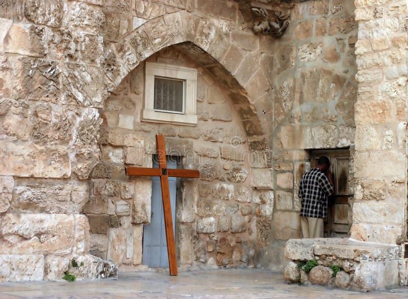 Praying in Jerusalem royalty free stock photos