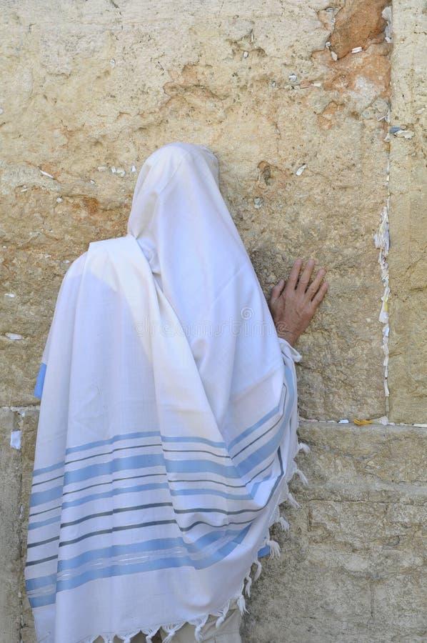 Praying judaico, Jerusalem fotografia de stock