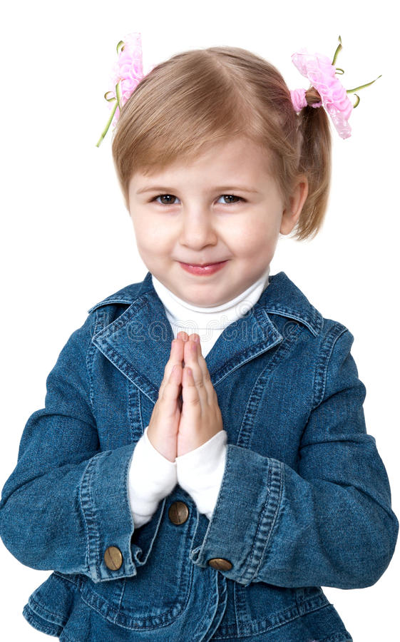 Download Praying Little Girl Stock Images - Image: 14193284