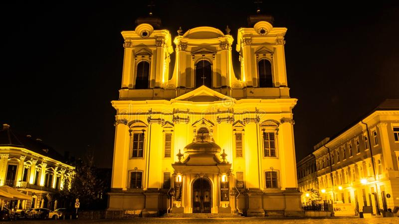 Timisoara by night 3 royalty free stock images