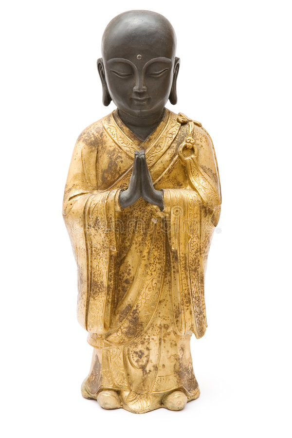 Free Praying Monk Statue Stock Photography - 2724712