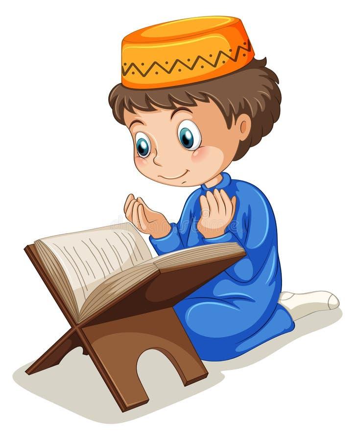 Praying muçulmano ilustração stock