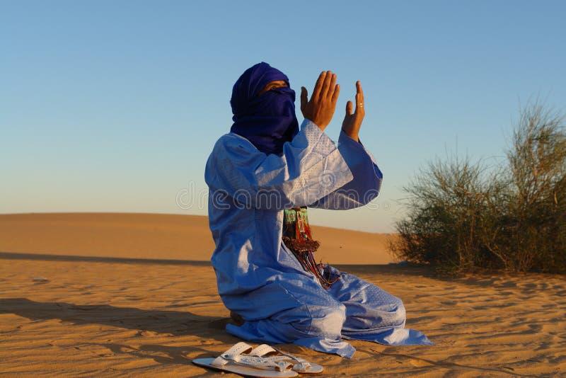 Praying Nomad stock photography
