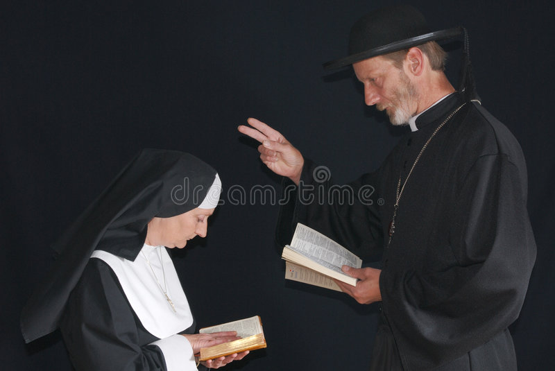 Download Praying nun and priest stock image. Image of habit, peace - 2969759