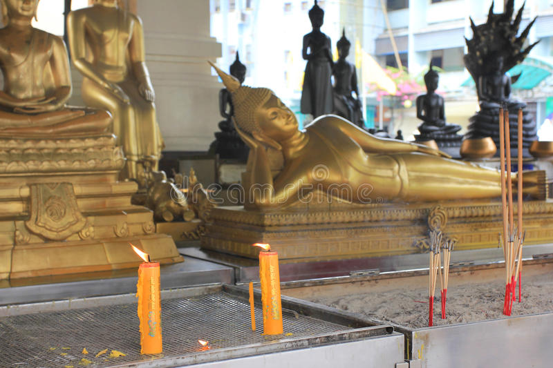Praying objects and details at a buddhist temple, outdoor royalty free stock images