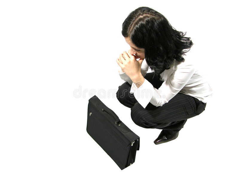 Praying para clientes novos fotografia de stock royalty free