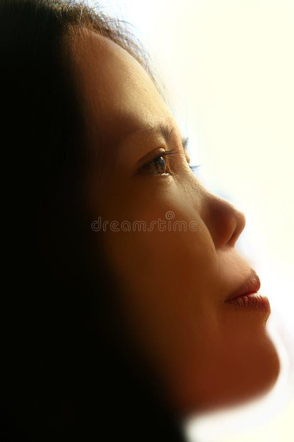 Praying para a paz fotografia de stock