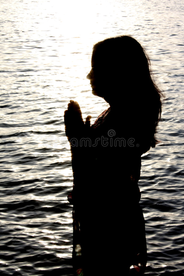 Praying Sparkles. Royalty Free Stock Image