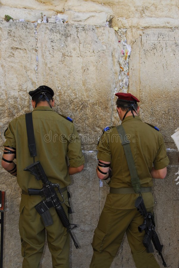 Praying At The Western Wall Stock Images