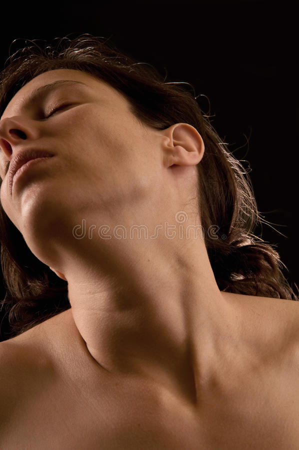Prazer sensual de uma mulher imagem de stock