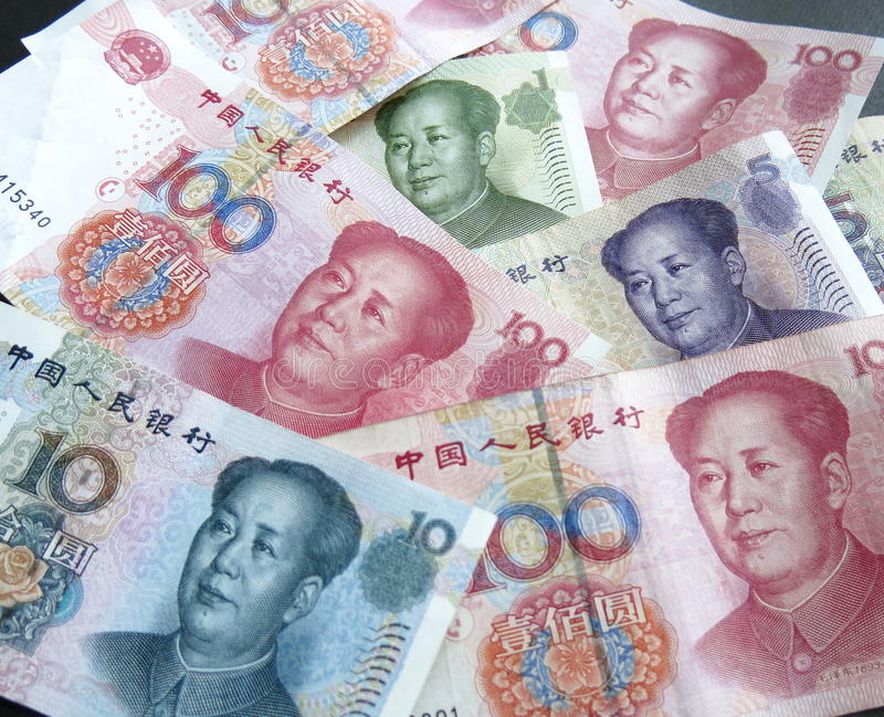 PRC waluty zdjęcia royalty free