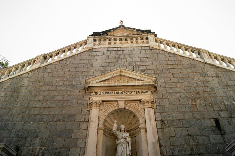 Prcanj, iglesia de la natividad de la Virgen imágenes de archivo libres de regalías