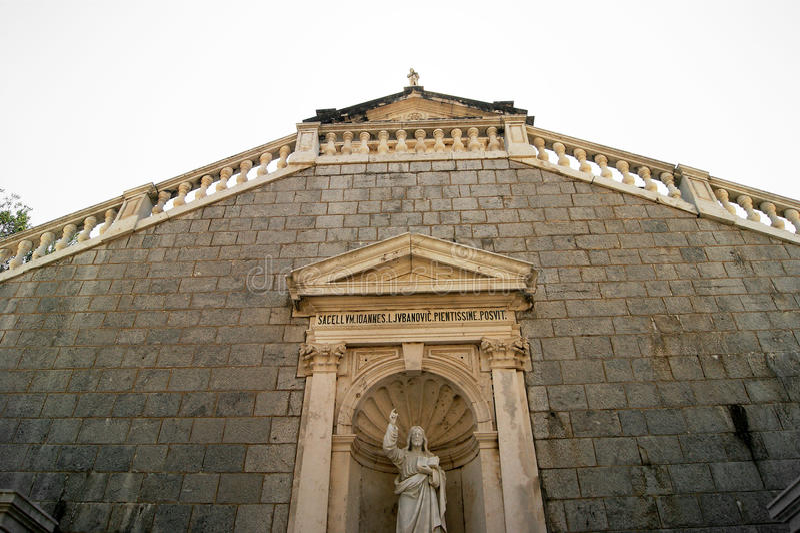 Prcanj, igreja da natividade do Virgin imagens de stock royalty free